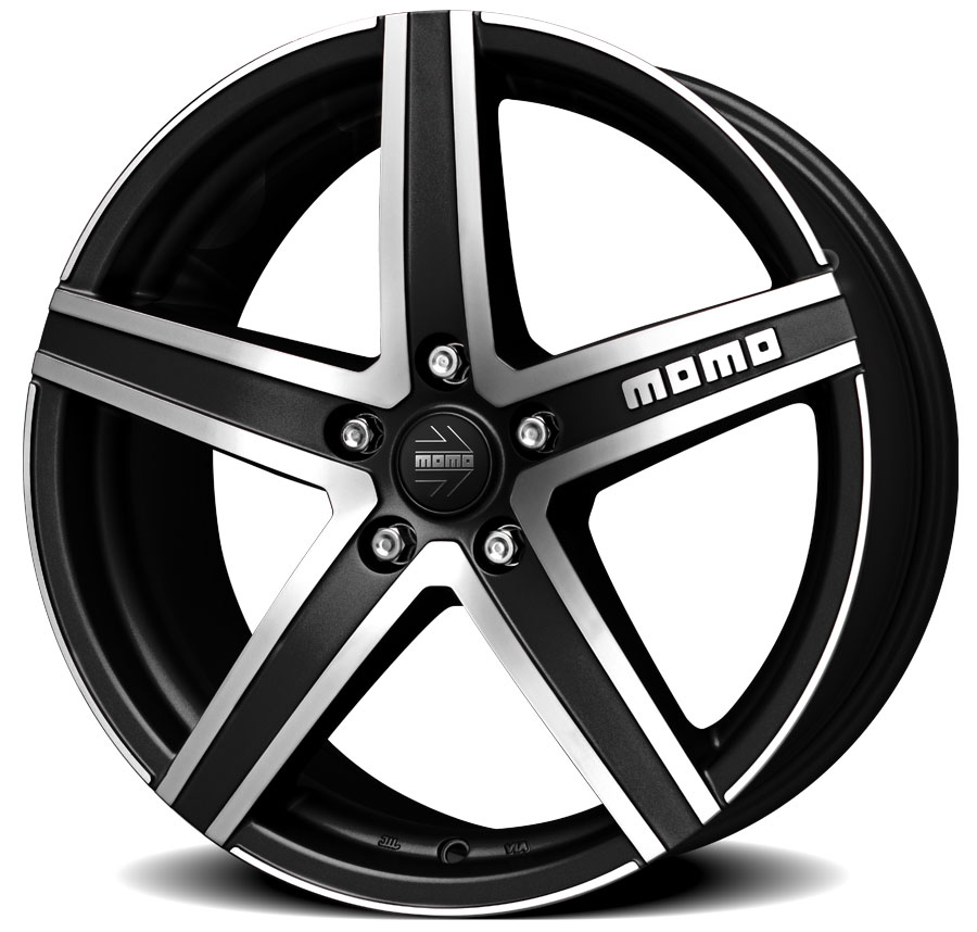 Matt Black Diamond Cut Hyperstar Evo Momo Italy Pcd 112 Size 17 Alloy Wheels India