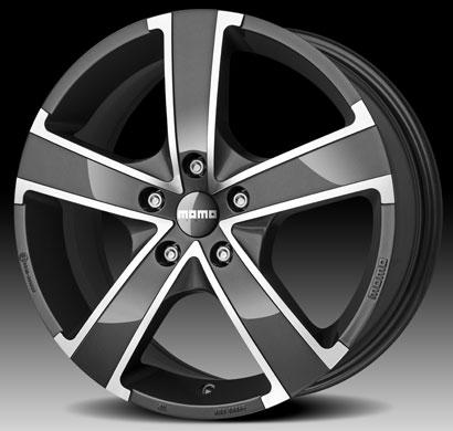 Glossy Anthracite Diamond Cut Win Pro Evo Momo Italy Pcd 100 Size 16 Alloy Wheels India