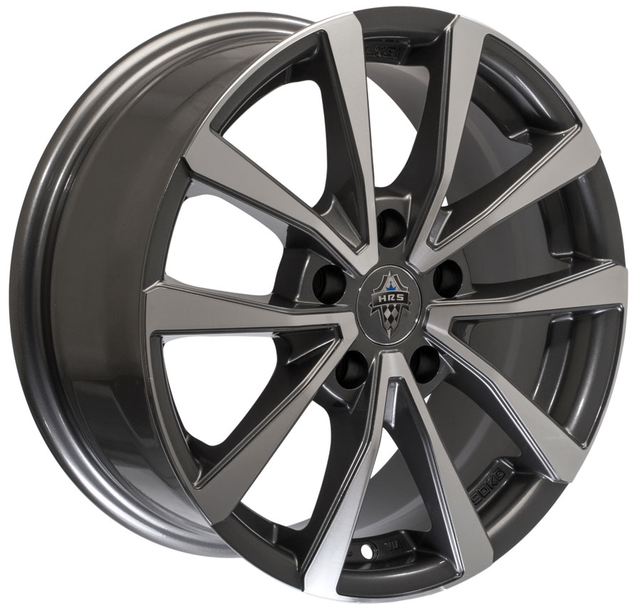 Full Machined Matt Grey Color H 781 Hrs Taiwan Pcd 100 Size 16 Alloy Wheels India